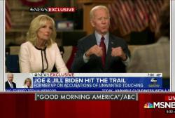 Biden responds to allegations in Tuesday interview