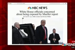WH officials fear being exposed by Mueller report