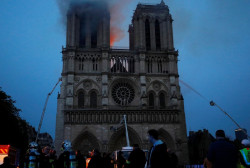 Paris Police: Notre Dame main structure has been saved