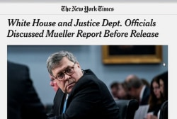 President's lawyers appear to have seen Mueller Report conclusions