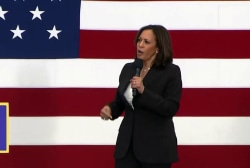 Kamala Harris: 'Women deserve to be paid as much as men'