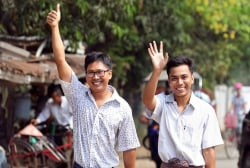 Watch: Reuters journalists joyfully reunite with families after 500+ days imprisoned in Myanmar