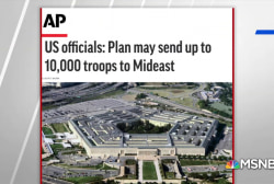 AP: DOD considering 10,000 additional troops in Middle East amid tensions with Iran