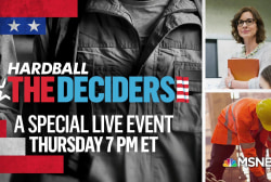 Thursday: Chris Matthews hosts 'The Deciders' town hall in Pennsylvania