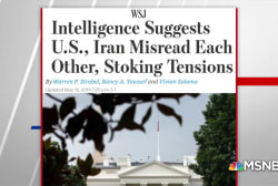 WSJ: Intel suggests US, Iran misread each other, stoking tensions