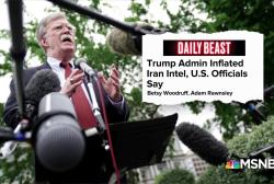 Daily Beast: Trump Administration inflating Iran intelligence