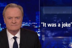Lawrence's Last Word: Was Trump joking about shooting?