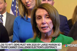 Pelosi suggests Trump would 'poison the public mind' on elections