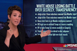 Trump losses mount as cracks form in dam of secrecy