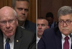Leahy grills Barr about prior 'purposefully misleading' statements under oath