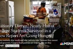 New report shows students are going hungry due to rising tuition costs