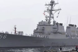 Trump denies asking for USS McCain to be covered in Japan