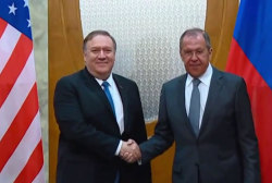 Mike Pompeo meets with Russia's Putin and Lavrov