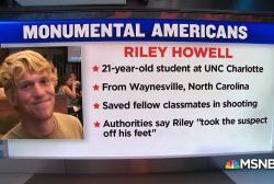 #MonumentalAmerican: Riley Howell, UNC's 'hero'