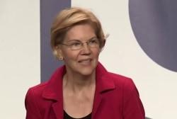 Warren rises in the polls ahead of first Democratic debate