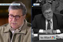 Watch Trump AG Barr contradict himself on Mueller