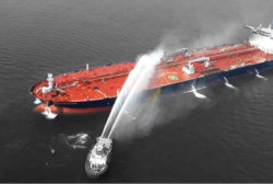 The U.S. blames Iran for attacks on two tankers in the Middle East