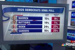 Elizabeth Warren and Pete Buttigieg surging in Iowa poll