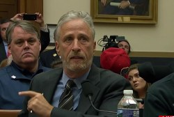 Jon Stewart makes plea to Congress over benefits for 9/11 first responders