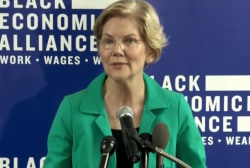 Elizabeth Warren and more slowly erasing Joe Biden's lead