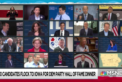 19 Democratic candidates and a giant bounce house head to Iowa