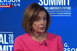 Pelosi says she's 'done with' Trump's attacks
