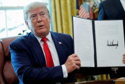 Trump announces 'hard-hitting' sanctions against Iran