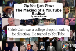 NYT: 21-year-old 'was brainwashed' by recommended videos on YouTube