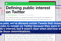 Twitter will now flag harmful tweets made by public figures
