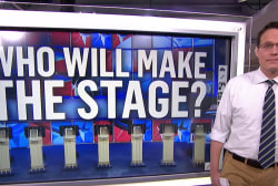 Who has qualified for the first presidential debate so far?