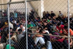Shocking photos show 'ticking time bomb' in Trump migrant centers