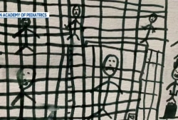New: Drawings by migrant children depict themselves caged