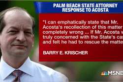 Former Palm Beach State Attorney says Acosta 'completely wrong' on Epstein