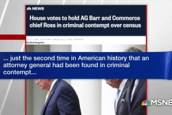 House votes to hold AG Barr and Commerce chief Ross in criminal contempt over census