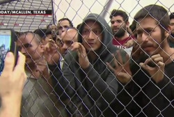 Shocking new images of overcrowding at the border