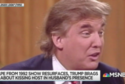 Trump describes kissing married TV host in creepy 1992 interview