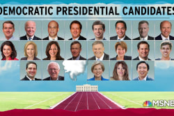 Democratic 2020 field shrinks by one, Warren money haul surprises