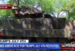 New details regarding Pres. Trump's 4th of July extravaganza