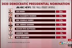 Biden in lead, Warren takes second in new polling