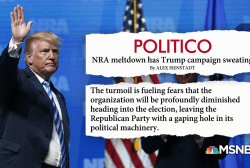NRA 'meltdown' reportedly has Trump 2020 campaign rattled