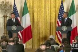 Obama, Italian PM hold press conference