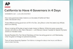 California to have 4 governors in just 1 week