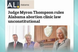 Tough Alabama abortion law struck down