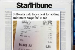 Café uses minimum wage fee