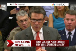 Rick Perry charged with abuse of power