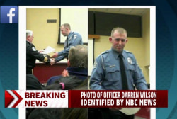Photo of Officer Darren Wilson identified