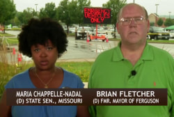 Ferguson police force 'overwhelmingly' white