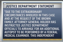 DOJ to conduct autopsy of Michael Brown