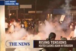 Heated clashes again in Ferguson