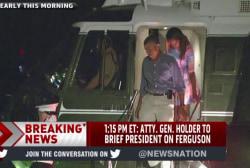 Holder to brief Obama on Ferguson